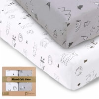 Fitted Crib Sheet (Woodland) - 2
