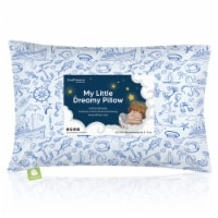 Hypoallergenic Toddler Pillow with 100% Cotton Pillowcase (Nautical)