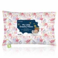 Hypoallergenic Toddler Pillow with 100% Cotton Pillowcase (Fantasy) - 1