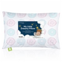 Hypoallergenic Toddler Pillow with 100% Cotton Pillowcase (Donuts)