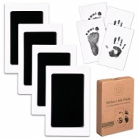 4-Pack Hand & Footprints Inkless Ink Pads (Jet Black) - 4