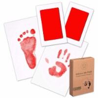 2-Pack Hand & Footprints Inkless Ink Pads (Ruby)