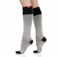 VIM & VIGR Compression Socks: 15-20 mmHg: Heathered(Cotton) Salt & Pepper S/M - S/M