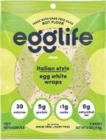 Egglife Italian Style Egg White Wraps 6 Count