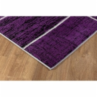 L Baiet SL973Z46 Verena Geometric Rug, Purple - 4 x 6 ft. - 1