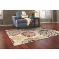 L Baiet RS412R46 Brielle Mid-Century Rug, Red - 4 x 6 ft. - 1