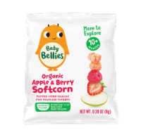 Little Bellies Baby Bellies Organic Apple & Berry Softcorn Snack