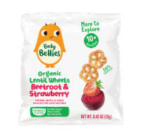 Little Bellies Baby Bellies Organic Beetroot & Strawberry Lentil Wheels Snack