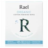 Rael Organic Cotton Feminine Wipes - 10 pk