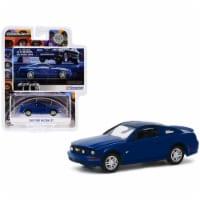 Greenlight 30139 2009 Ford Mustang Gt Dark Blue -178 Mph In 7.9 Seconds. On Street Tires BFGo - 1