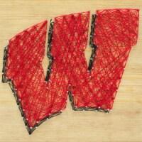 Wisconsin Badgers Team Pride String Art Craft Kit - 1 ct
