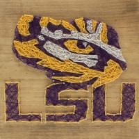 LSU Tigers Team Pride String Art Craft Kit - 1 ct