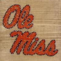 Mississippi Ole Miss Team Pride String Art Craft Kit - 1 ct