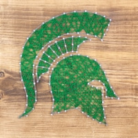 Michigan State Spartans Team Pride String Art Craft Kit - 1 ct