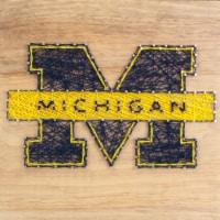 Michigan Wolverines Team Pride String Art Craft Kit - 1 ct