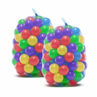 Upper Bounce Crush Proof Plastic Trampoline Pit Balls 200 Pack - Mixed Colors