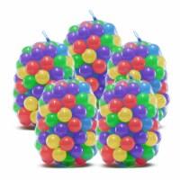 Upper Bounce Crush Proof Plastic Trampoline Pit Balls 500 Pack - Mixed Colors - Set of 500 balls