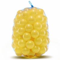 Crush Proof Plastic Trampoline Pit Balls 100 Pack - Yellow - 100 Pack