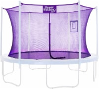 Safety  Enclosure Net Fits 14 FT Round Trampoline,6 Poles (3 Arches) - Purple