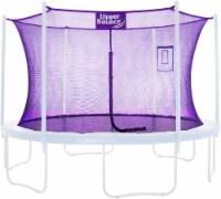 Safety  Enclosure Net Fits 14 FT Round Trampoline,6 Poles (3 Arches) - Purple