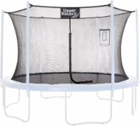 Safety  Enclosure Net Fits 12 FT Round Trampoline,4 Poles (2 Arches) - Black