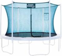 Safety  Enclosure Net Fits 12 FT Round Trampoline,4 Poles (2 Arches) - Aquamarine