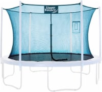 Safety  Enclosure Net Fits 15 FT Round Trampoline,3 Arches - with Top Sleeves, Aquamarine - Round 15 ft