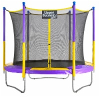 9 FT Round Trampoline Set with Safety Enclosure System - Yellow/Purple