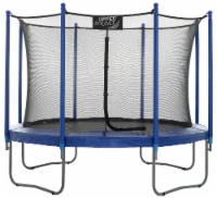 10 FT Round Trampoline Set with Safety Enclosure System - Blue