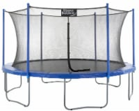 15 FT Round Trampoline Set with Safety Enclosure System - Blue