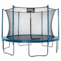 12 FT Round Trampoline Set with Safety Enclosure System - Aquamarine