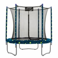 7.5 FT Round Trampoline Set with Safety Enclosure System - Starry Night - Round 7.5 ft