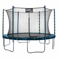 12 FT Round Trampoline Set with Safety Enclosure System - Starry Night