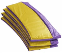 Super Spring Cover - Safety Pad, Fits 9 FT Round Trampoline Frame - Purple/Yellow