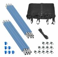 Safety Enclosure Set of Net, 6 Poles & Hardware, Fits 15 FT. Round Trampoline