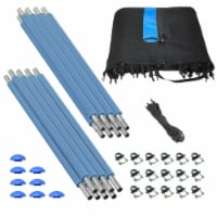 Safety Enclosure Set of Net, 8 Poles & Hardware, Fits 13 FT. Round Trampoline
