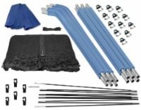 Trampoline Safety Enclosure Set of Net, 6 Curved Poles & Hardware, Fits 14 FT. Round Frame