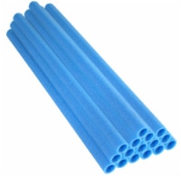"37 Inch Trampoline Pole Foam sleeves, Fits 1"" Diameter Pole - Set of 16 -Blue - 37""L x 1"" Dia."