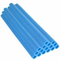 """44 Inch Trampoline Pole Foam sleeves, Fits 1.75"""" Diameter Pole - Set of 16 -Blue"""