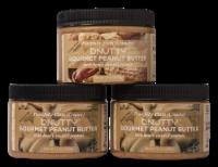 GOURMET PEANUT BUTTER- PEACEFULLY PLAIN CREAMY AND CRUNCHY | 3 PACK - 3 JARS/12 OUNCES EACH