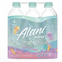 Alani Nu Purified Water with Electrolytes - 6 bottles / 1 L