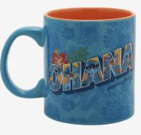 Disney Lilo & Stitch Ohana Means Family Floral Cermic Mug New - 1