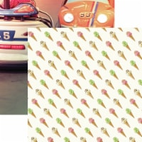 Weekend Adventure Double-Sided Cardstock 12 X12 -Cones & Cars - 1