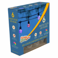Holiday Bright Lights LED Morphing Outdoor Light Set Multicolored 12 ft. 6 lights - Case Of: - Count of: 1