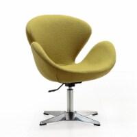 Manhattan Comfort Raspberry Green and Polished Chrome Wool Blend Adjustable Swivel Chair - 1
