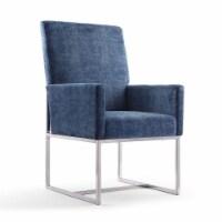 Manhattan Comfort Element Blue Velvet Dining Armchair