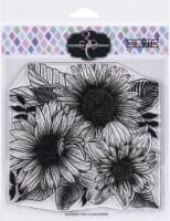 Colorado Craft Company Clear Stamps 6 X6 -Daisy & Dahlia-Big & Bold - 1