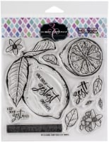 Colorado Craft Company Clear Stamps 6 X6 -Lemon Zest-Big & Bold - 1