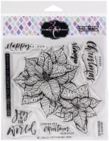 Colorado Craft Company Clear Stamps 6 X6 -Poinsettia Blessings-Big & Bold - 1