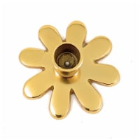 Vibhsa Taper Candlestick Holder Flower Dish - Gold